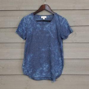 Cloth & Stone Blue Tie Dye Cotton Shirt (XS)